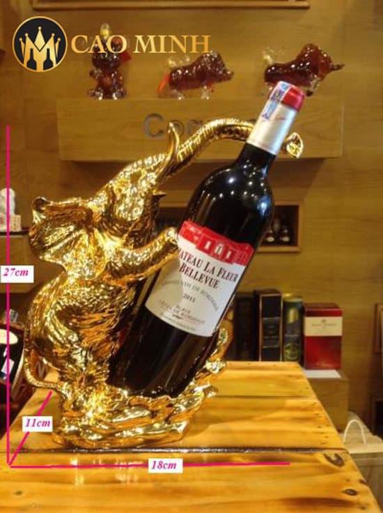 Kệ rượu vang Chú Voi dát vàng