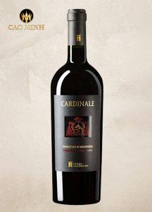 Rượu vang Ý Cardinale Primitivo di Manduria 2013