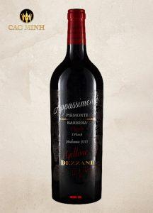 Rượu Vang Ý Appassimento Gattone Dezzani Barbera Piemonte