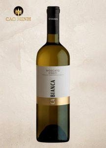 Rượu vang Moscato D'asti Tenimenti Ca'bianca