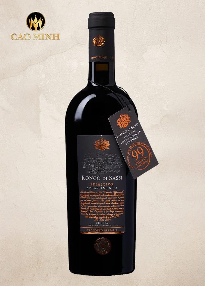 Rượu vang Ronco Di Sassi 99 điểm cao cấp