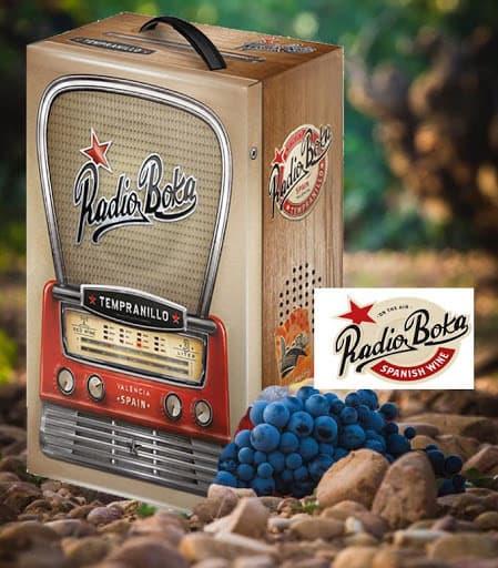 Rượu vang bịch Tây Ban Nha Radio Boka