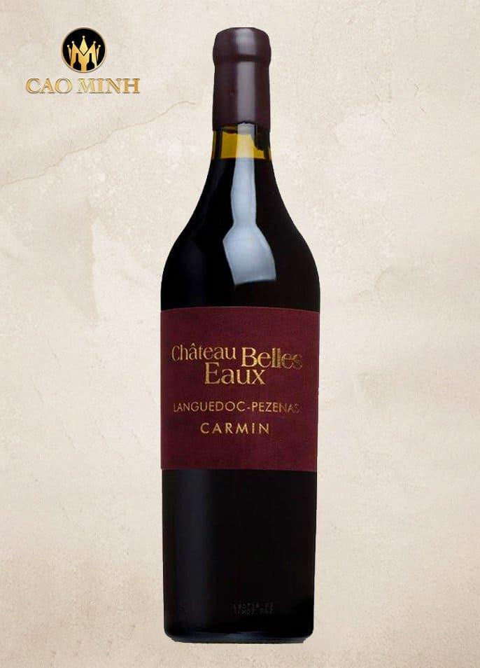 Rượu vang Pháp Carmin Chateau Belles Eaux Pezenas