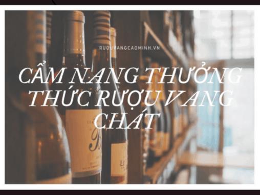 Cẩm nang thưởng thức rượu vang chát của chuyên gia không thể bỏ qua