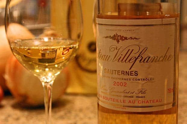 Dòng rượu vang trắng Bordeaux