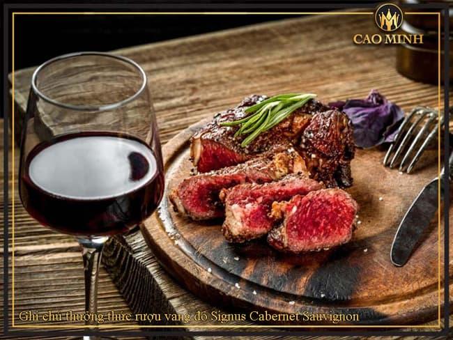 Ghi chú thưởng thức rượu vang đỏ Signus Cabernet Sauvignon