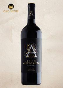 Rượu vang Tây Ban Nha Allegranza Gran Monastrell