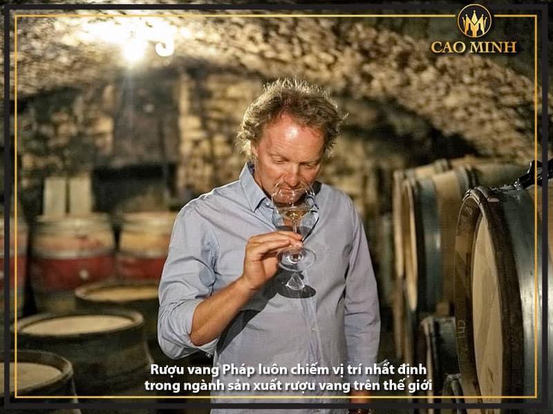 Rượu vang Pháp luôn chiếm vị trí nhất định trong ngành sản xuất rượu vang trên thế giới