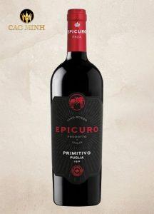 RƯỢU VANG Ý - EPICURO PRIMITIVO PUGLIA I.G.T
