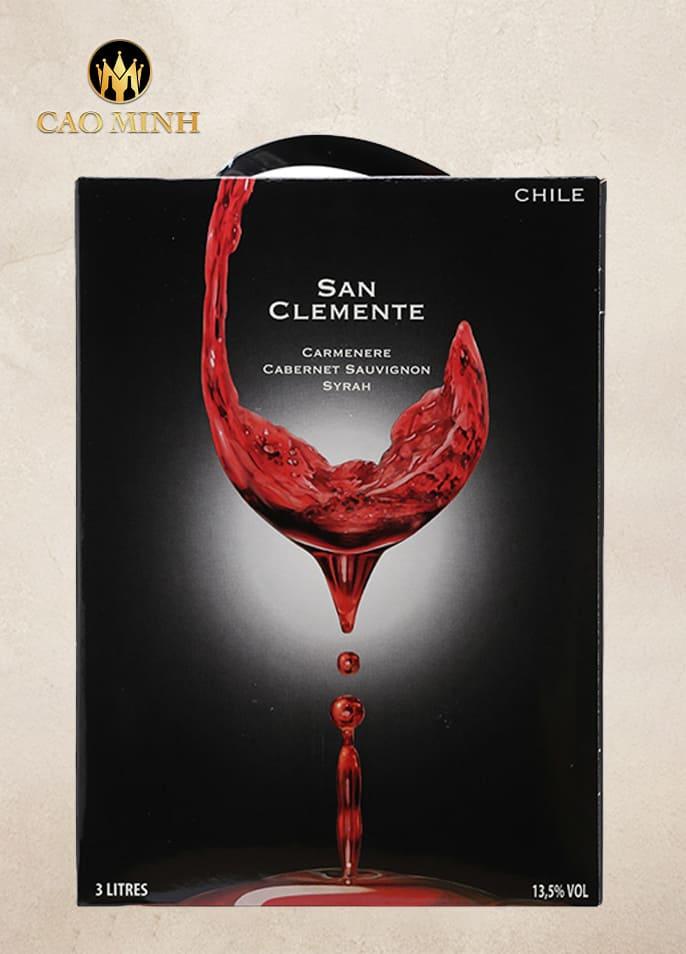 RƯỢU VANG BỊCH CHILE SAN CLEMENTE 3L