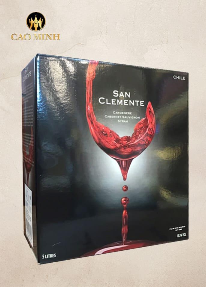 RƯỢU VANG BỊCH CHILE SAN CLEMENTE 5l