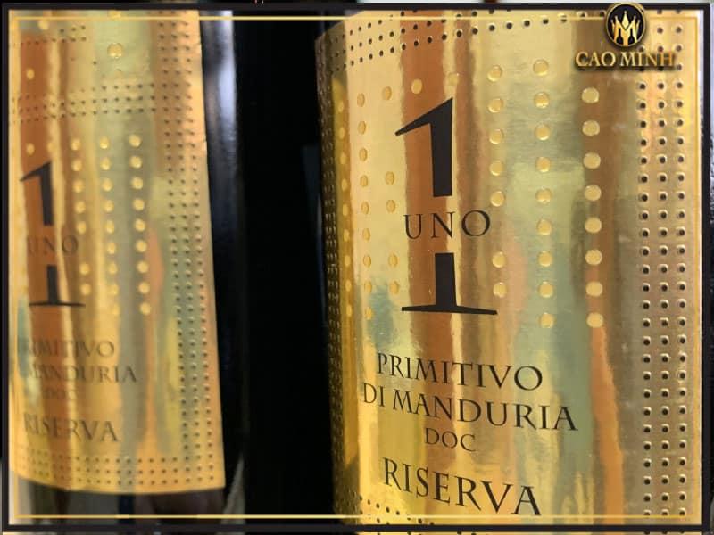 Rượu vang Uno 1 Primitivo di Manduria Reserva - Vang Ý cao cấp