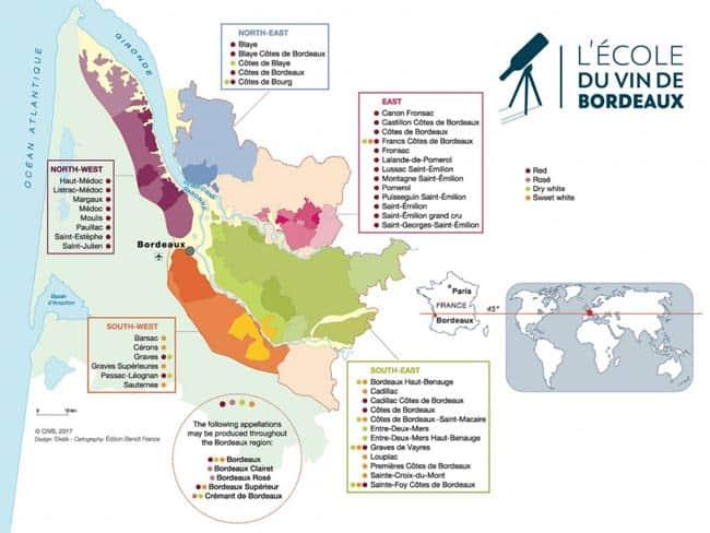 Vùng đất sản xuất rượu vang Bordeaux