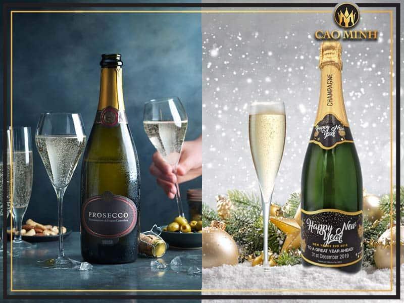 Phân biệt rượu Champagne với rượu Prosecco