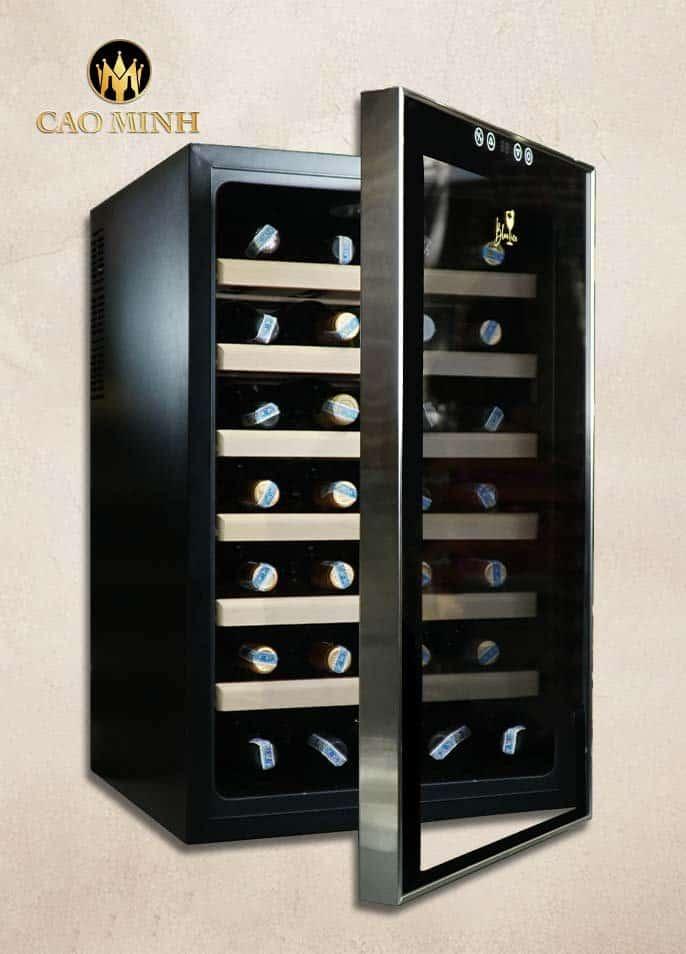 Tủ Bảo Quản Rượu Vang Blue Ice 28 Chai (1 Cánh)