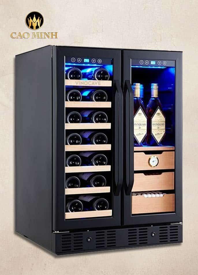 Tủ Bảo Quản Rượu Vang Vinocave 2 Cánh 24 Chai x 150 Cigar