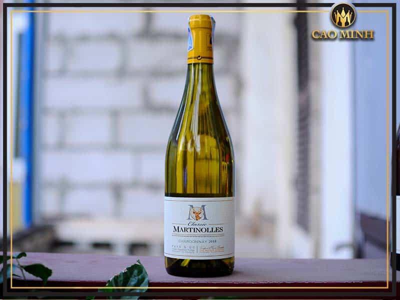 Vang Pháp Martinolles Chardonnay Classic Pays D.O.C