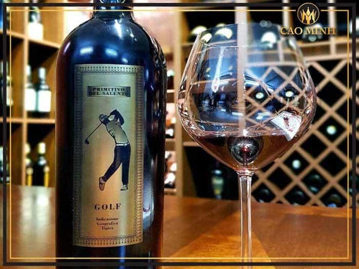 Đặc điểm rượu vang Golf Primitivo Di Manduria