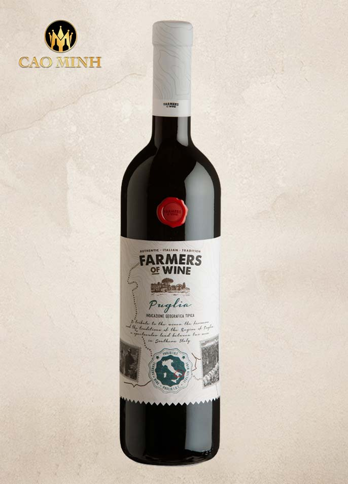 RƯỢU VANG Ý FARMERS OF WINE ROSSO PUGLIA