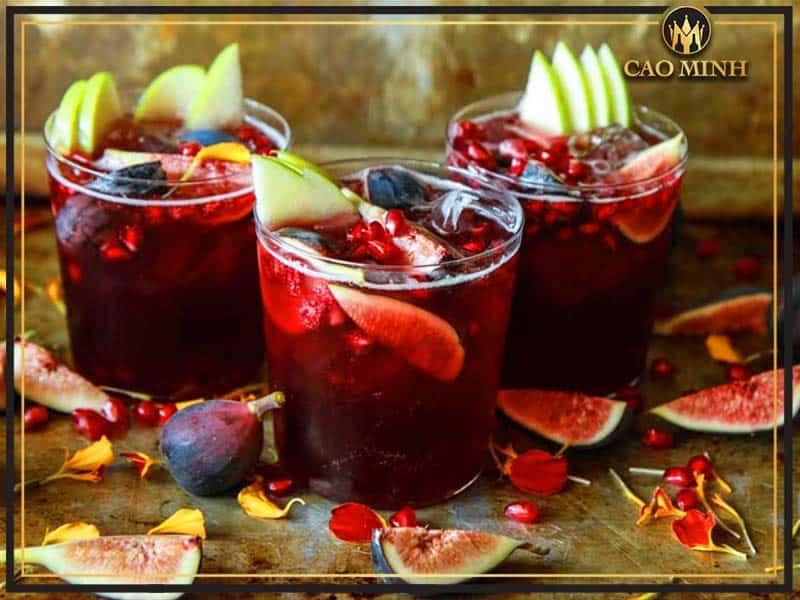 Công dụng của rượu vang hoa quả