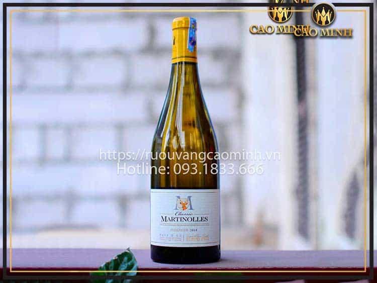 Giá rượu vang Pháp nhập khẩu dòng Martino Les khá rẻ và dễ mua, giá chỉ 395.000đ