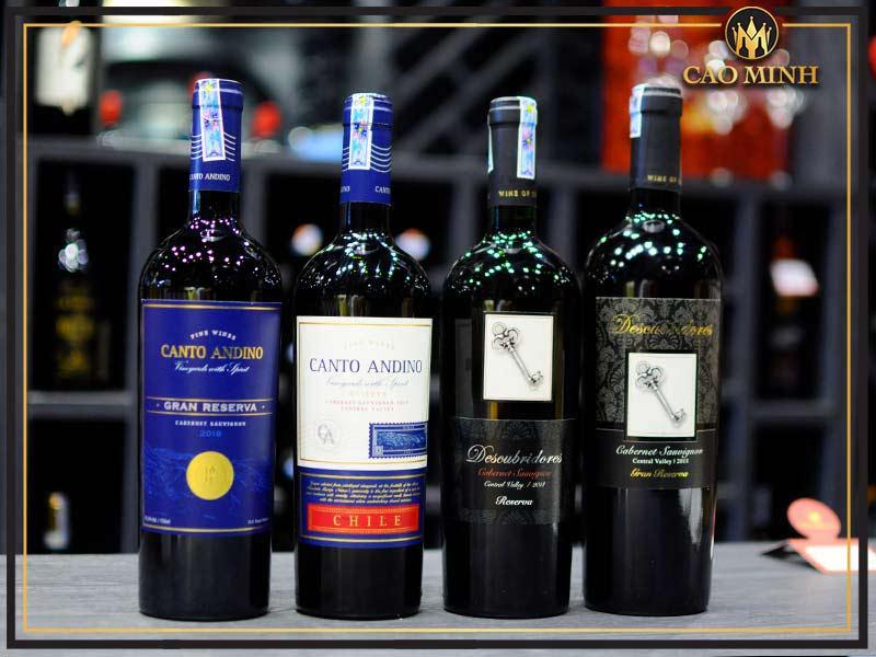 Rượu vang Chi Lê được chia thành nhiều loại từ bình dân tới cao cấp