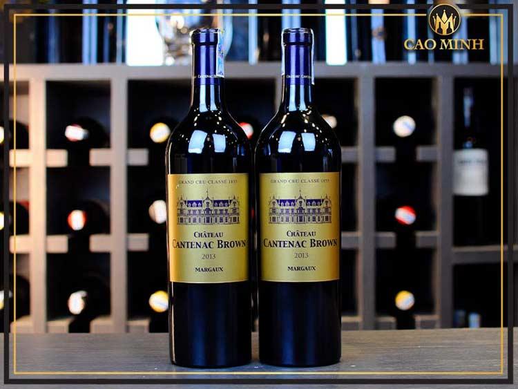 Rượu vang Chateau Cantenac Brown là chai vang đỏ cực ngon, giá hiện tại 3.2000.000đ