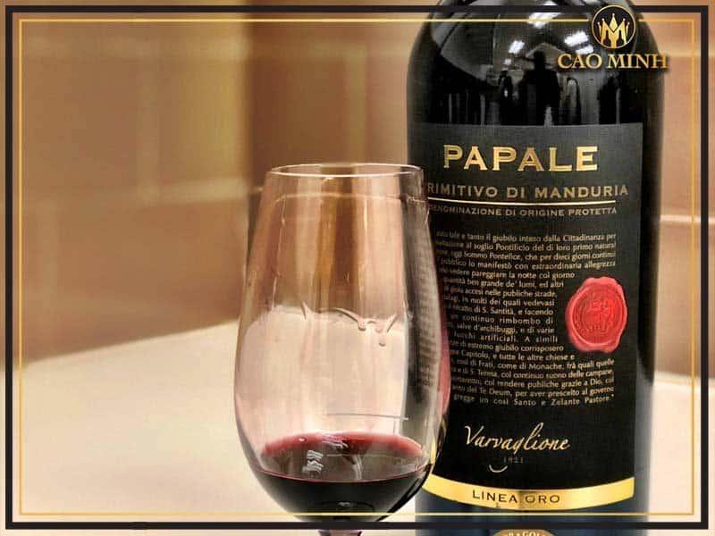 Đặc điểm rượu vang Papale Primitivo