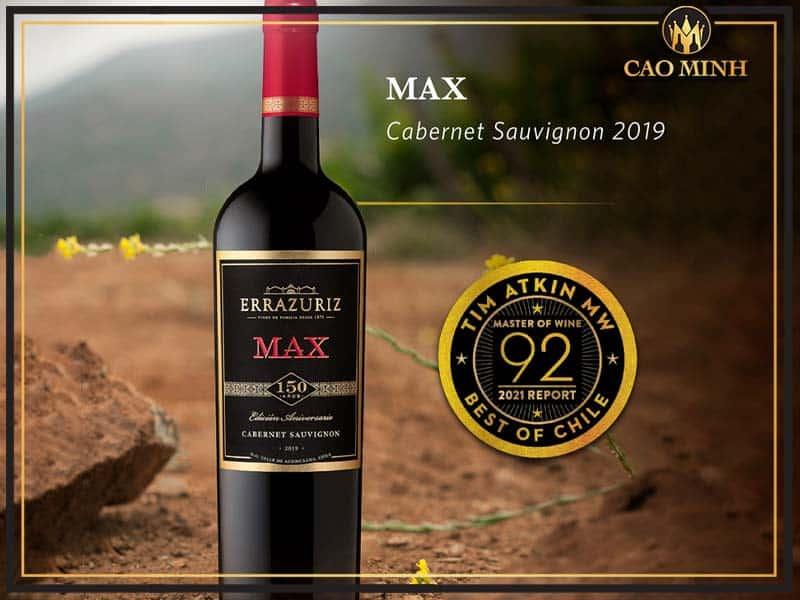 Thông tin chai vang Errazuriz Max Cabernet Sauvignon