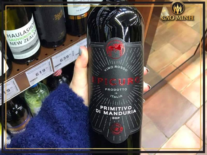 Rượu vang Epicuro Primitivo di Manduria DOP