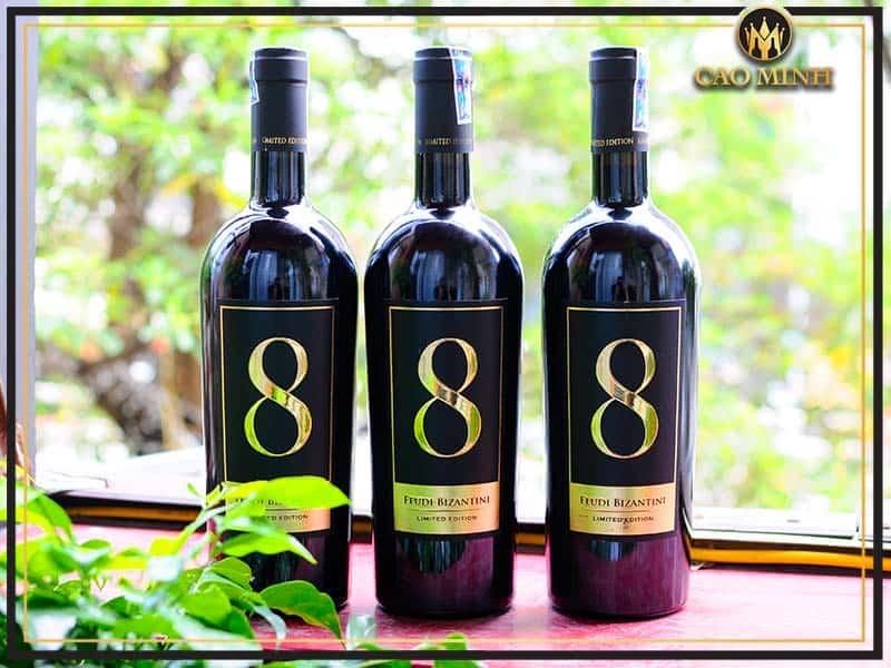 Rượu Vang Ý No. 8 Feudi Bizantini Limited Edition