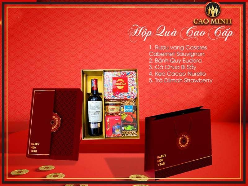 quà tết rượu vang mẫu 1