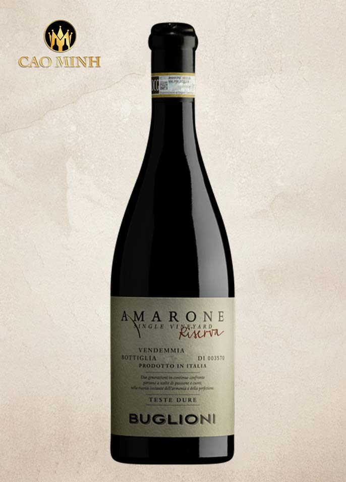Rượu Vang Ý Buglioni Amarone Riserva Teste Dure