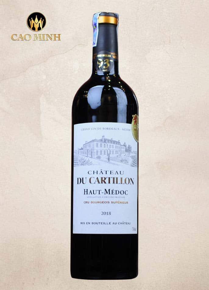 Rượu Vang Pháp Château du Cartillon 2018