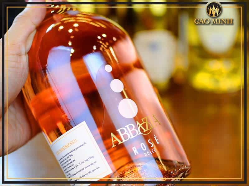 Vang ngọt Ý Abbazia Moscato Sparling Rose Dolce