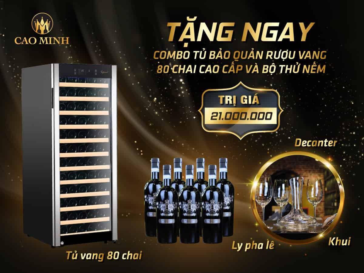 Tặng Ngay Tủ Bảo Quản 80 Chai Vang Vinocave Trị Giá 18,5tr