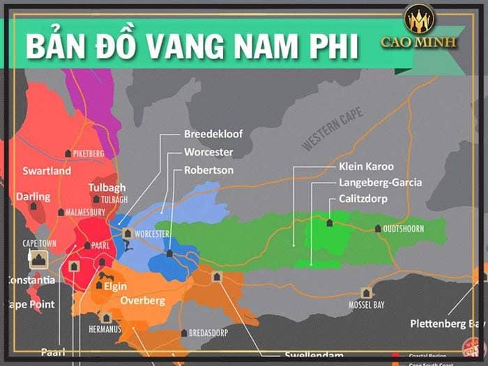 Bản đồ rượu vang Nam Phi