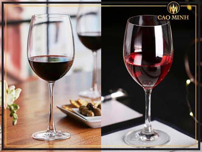 Ly rượu vang đỏ tiêu chuẩn