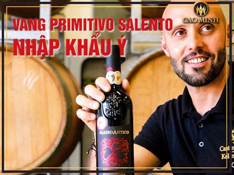Rượu vang Primitivo Salento nhập khẩu Ý ưa chuộng hiện nay
