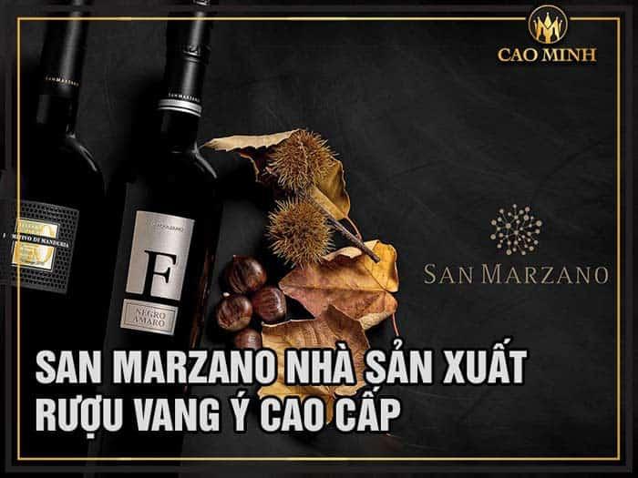 Rượu vang San Marzano - Nhà sản xuất rượu vang Ý cao cấp