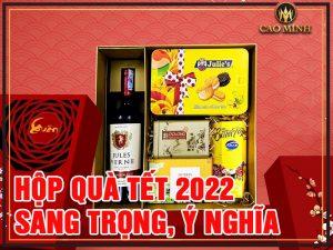 Hộp quà Tết sang trọng, ý nghĩa Hà Nội 2022