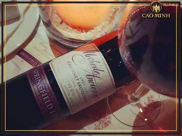 Rượu vang Springfield Methode Ancienne Cabernet Sauvignon