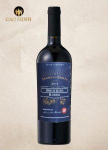 Rượu Vang Ý Mario Del Conte Brindisi Rosso DOC