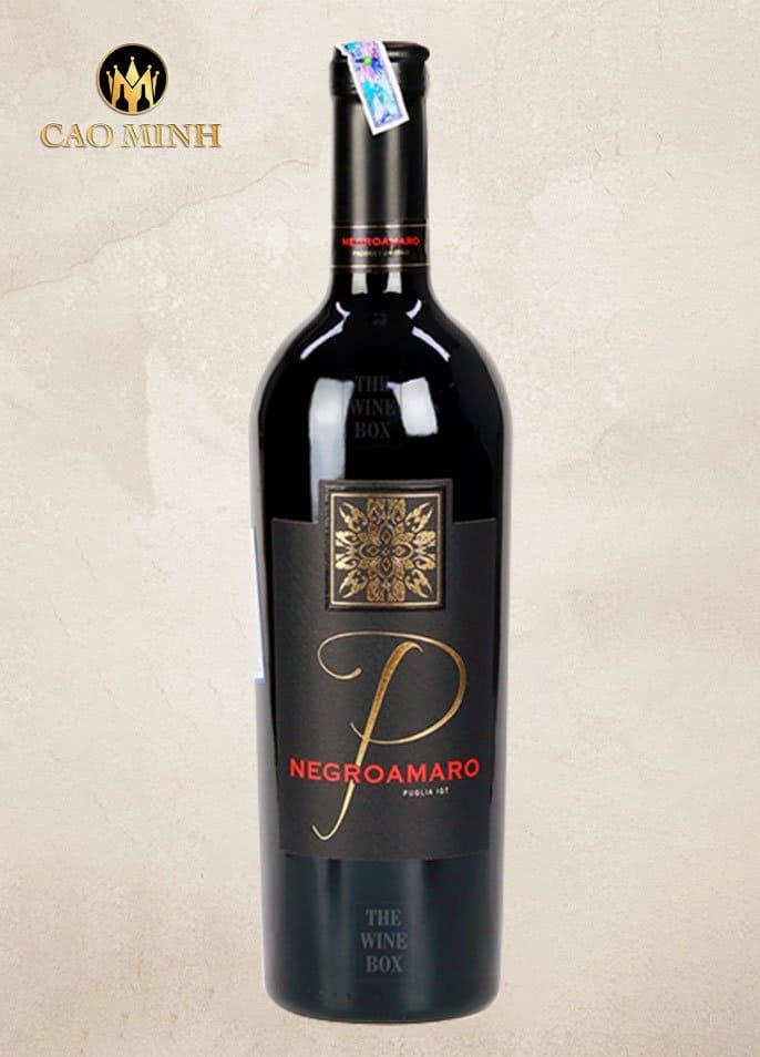 Rượu Vang Ý P Negroamaro Puglia 2020