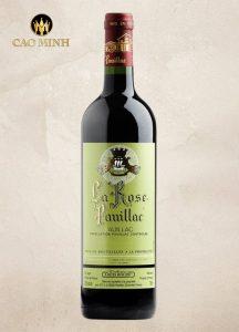 Rượu Vang Pháp La Rose Pauillac 2017